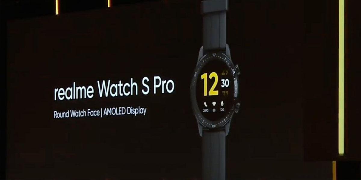 realme watch s pro pantalla