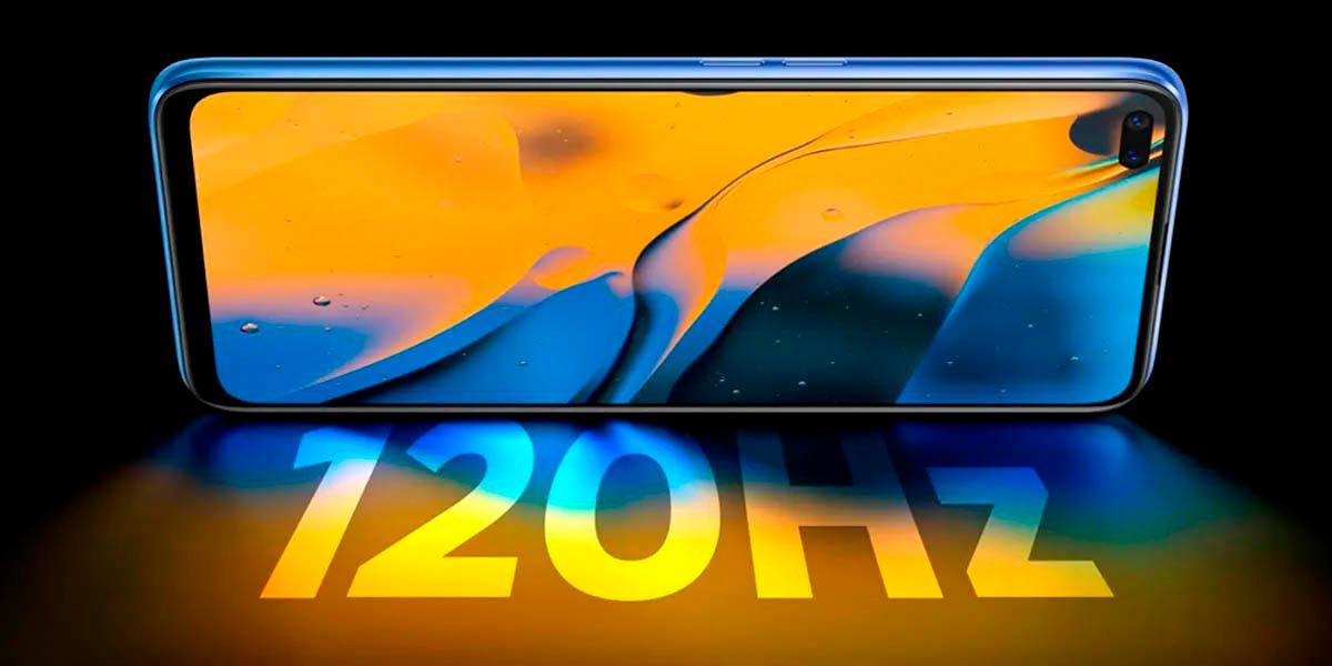 realme x50 5g mejor pantalla 120 hz