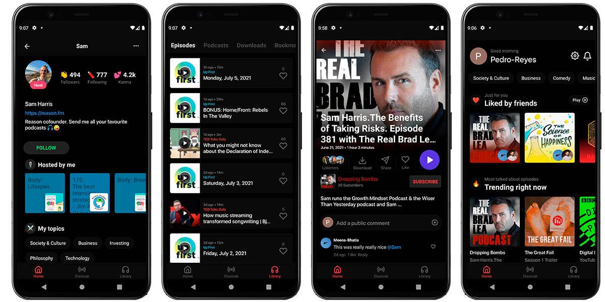 reason app podcast android ios