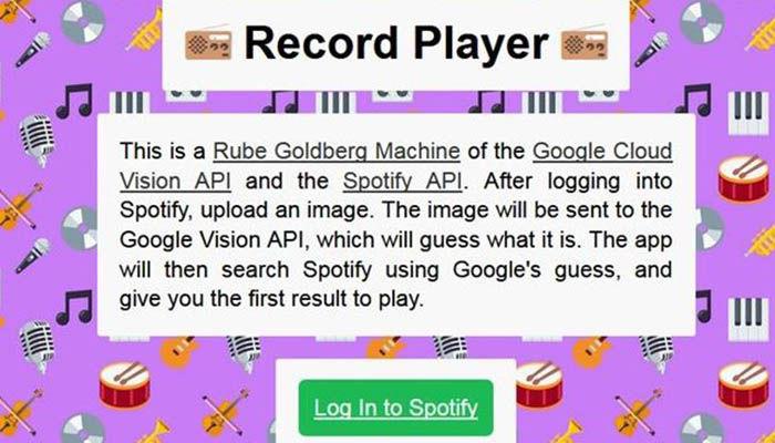 record player de Spotify