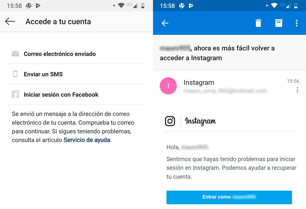 recuperar cuenta robada Instagram