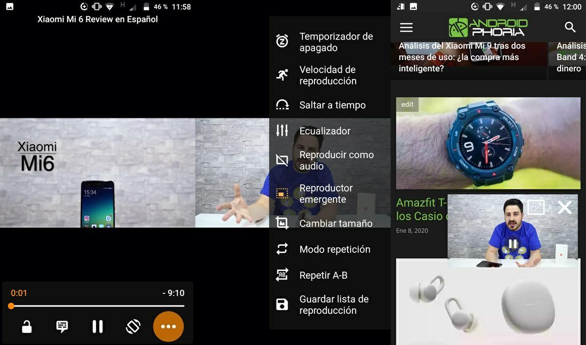 reproducir videos youtube pantalla flotante android vlc