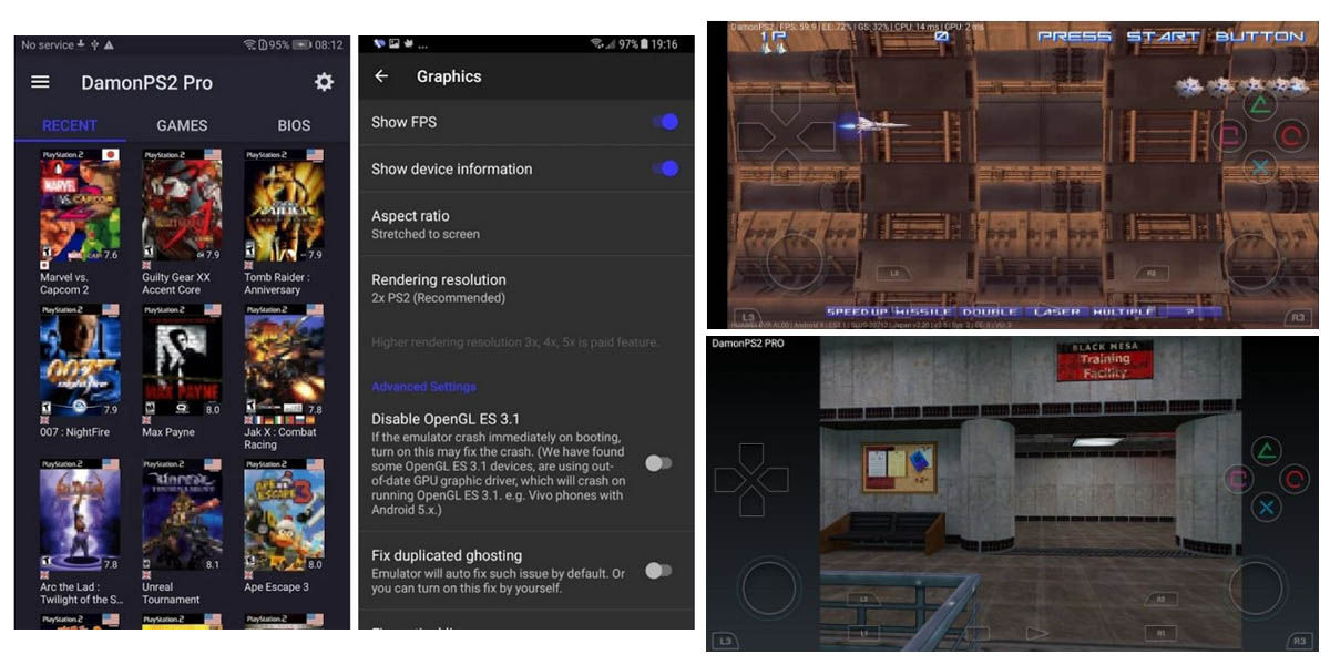 requisitos damonps2 emulador ps2 móvil