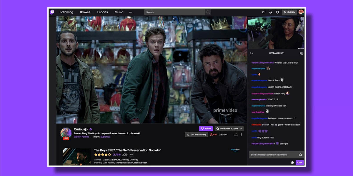 requisitos watch parties twitch android