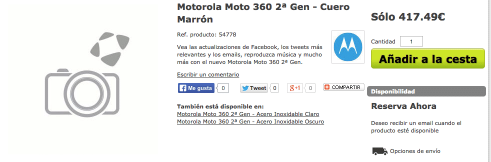 reservar moto 360 2ª gen cuero