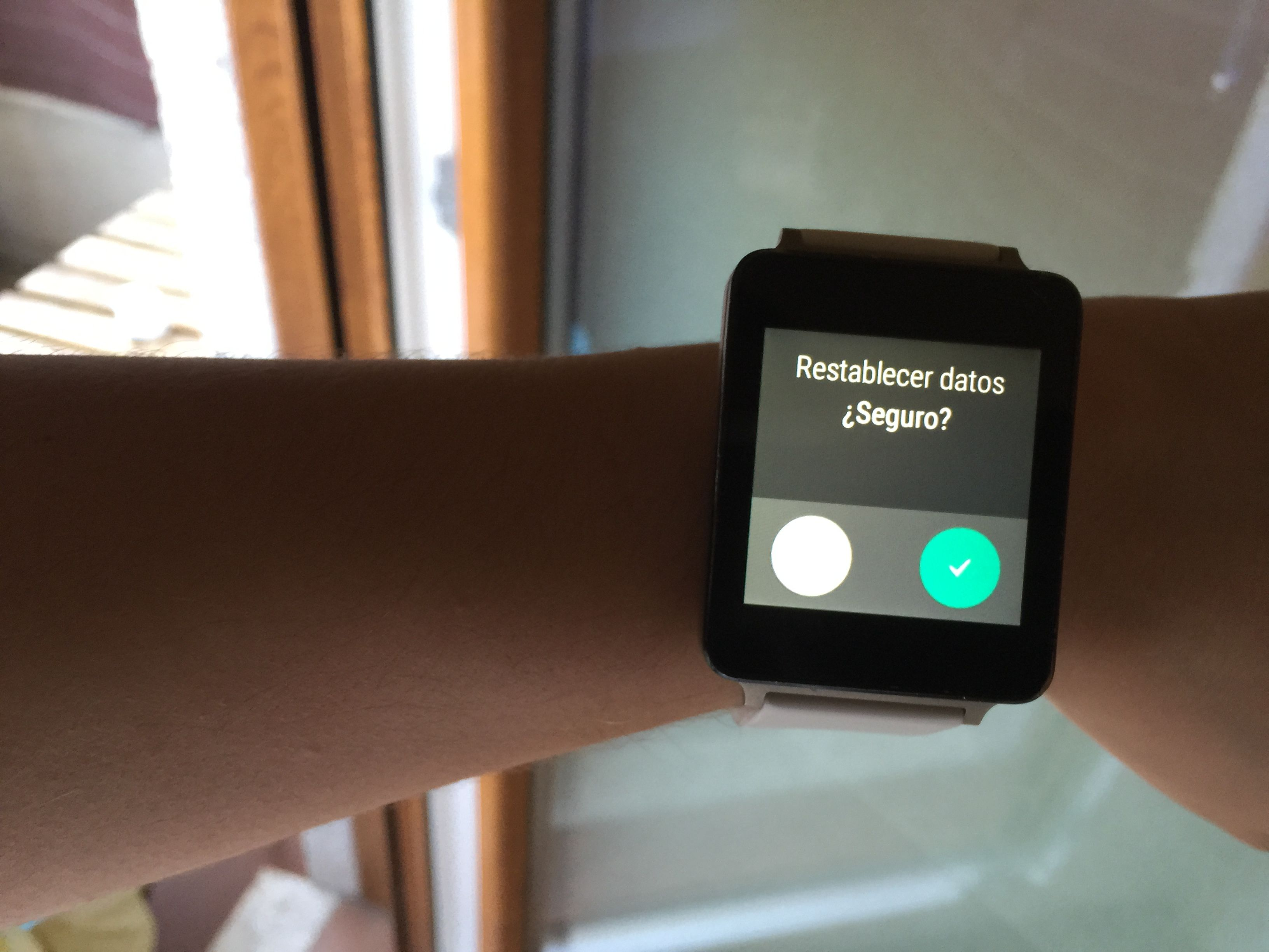 restablecer android wear