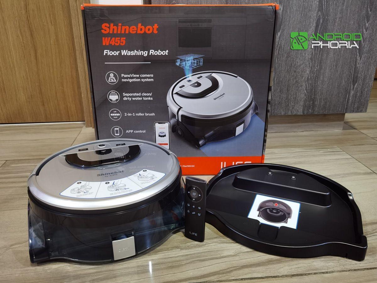 robot shinebot W455 control y base de carga