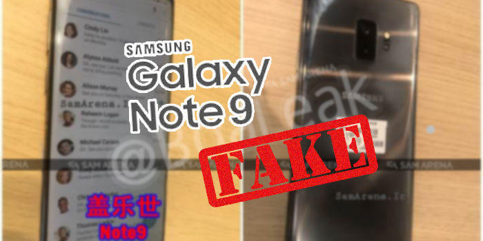 samsung galaxy note 9 filtrado falso
