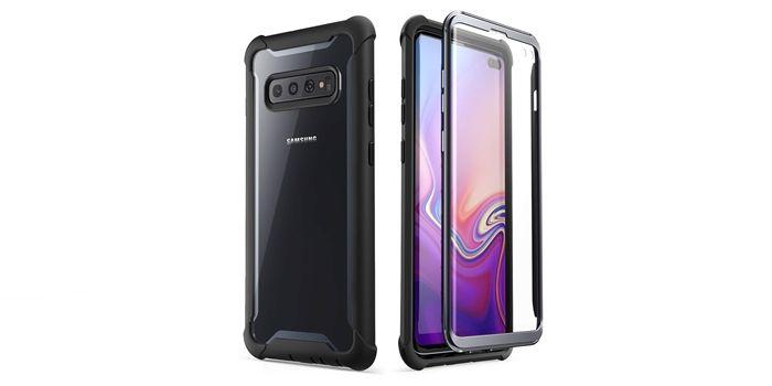 samsung galaxy s10 plus funda con protector de pantalla