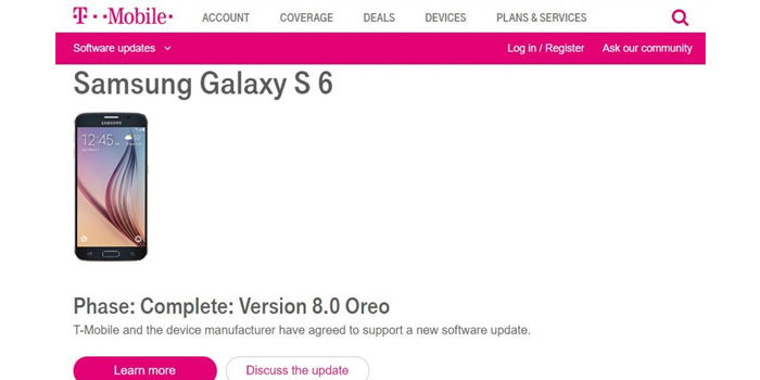 samsung galaxy s6 note 5 recibiran android 8 oreo