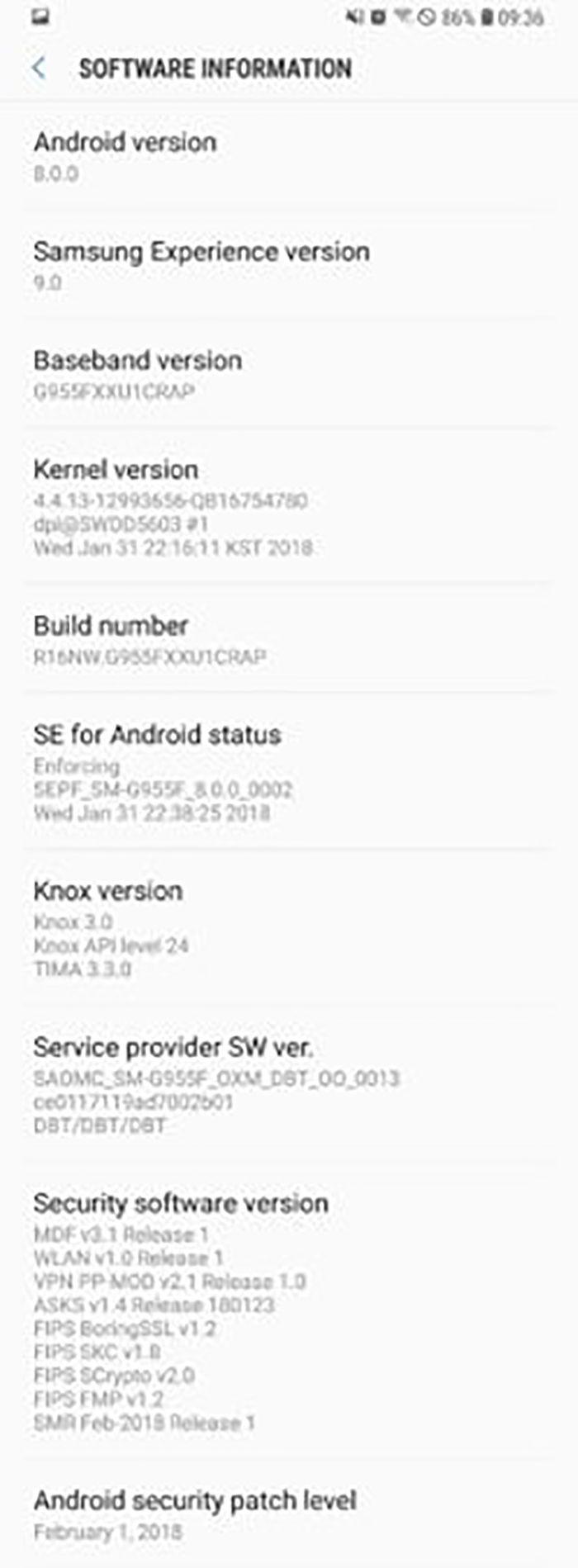 samsung galaxy s8 android 8 oreo oficial