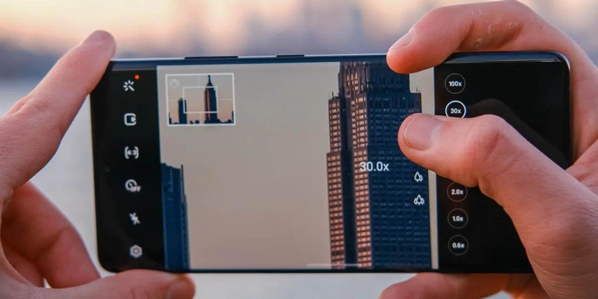 samsung modo pro cámara con zoom