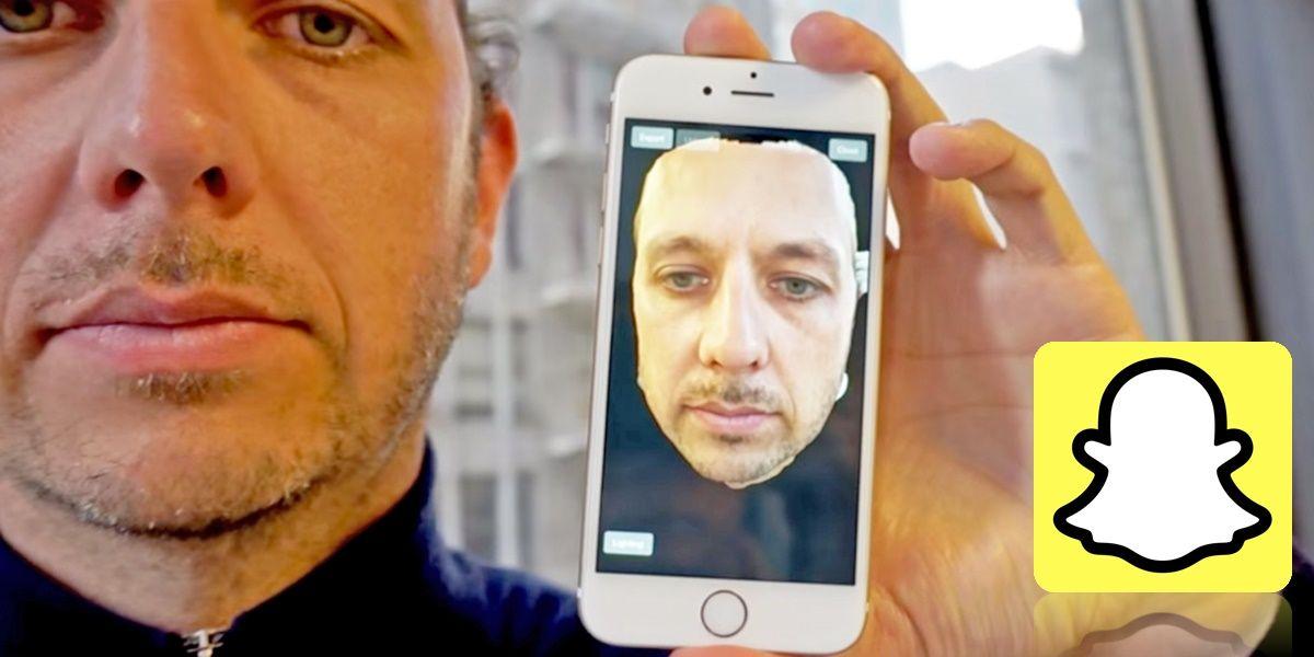 selfies en 3d snapchat
