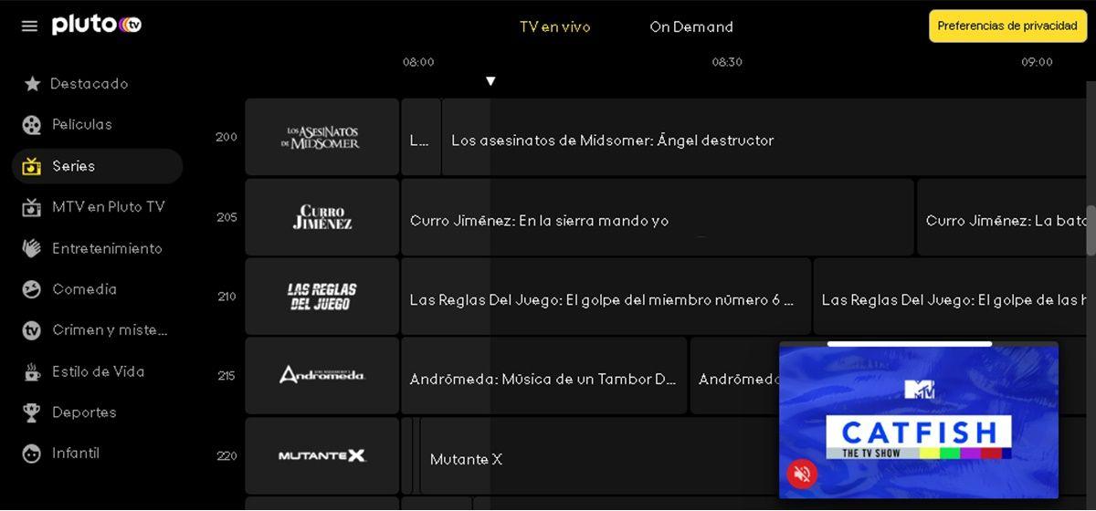 series pluto tv