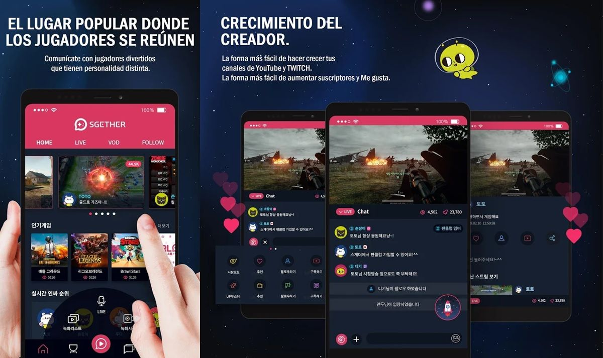 sgether app para transmitir en twitch