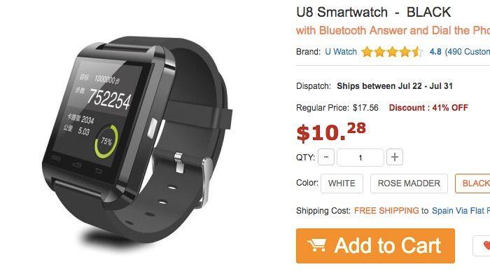 smartwarch u8 oferta