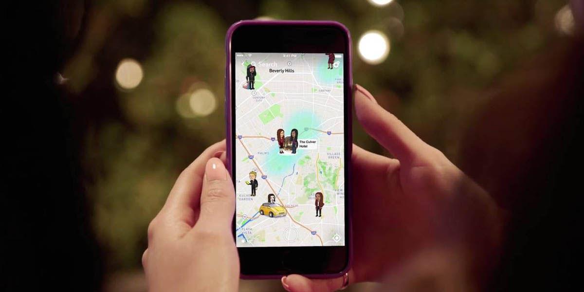 snapchat maps falsear ubicación