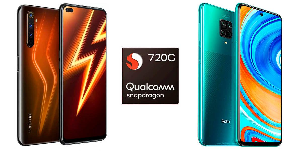 snapdragon 720G mejor rendimiendo gama media android 2020