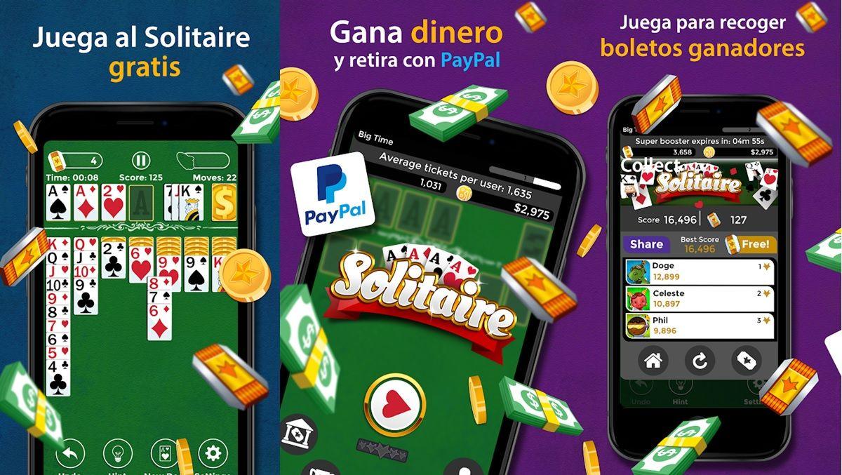 solitaire juego ganar dinero android