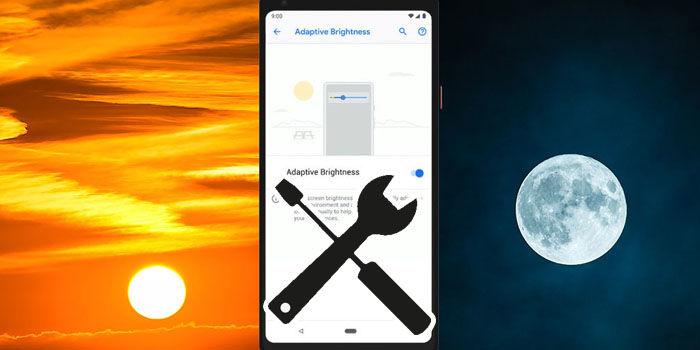 solucionar problema brillo adaptativo android pie