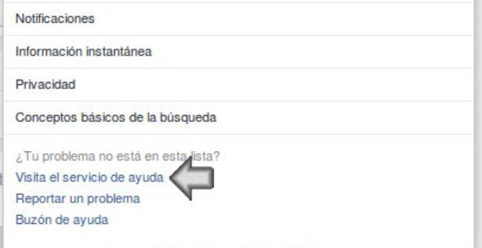 soporte de facebook