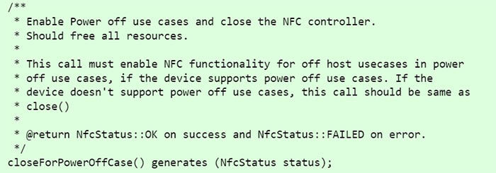 soporte para NFC