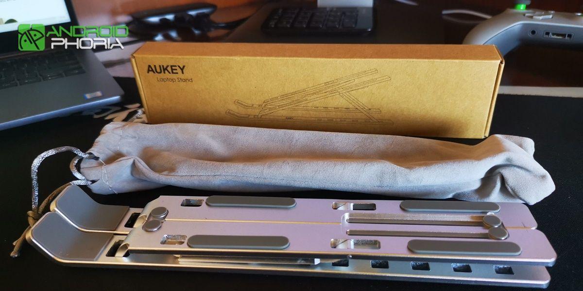 soporte portatil AUKEY HD-LT07 plegado