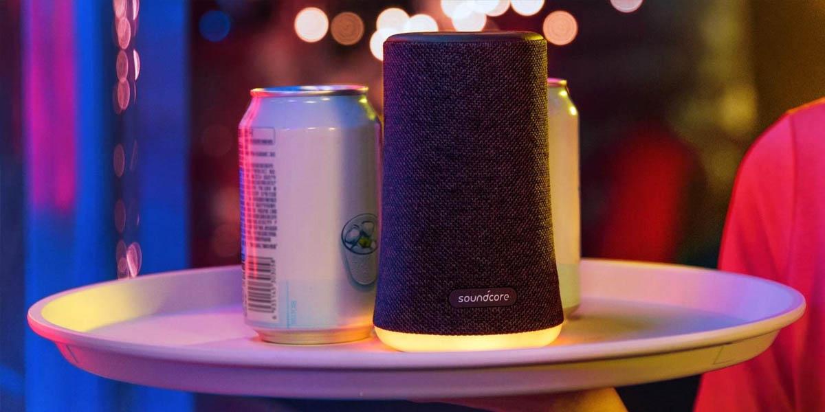 soundcore flare mini altavoz bluetooth con luces rgb