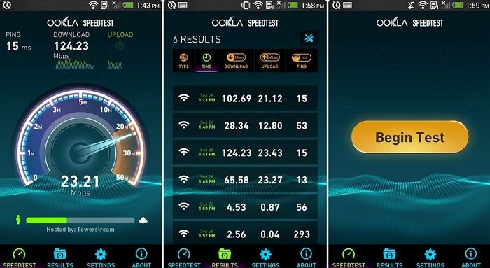 speedtest.net app