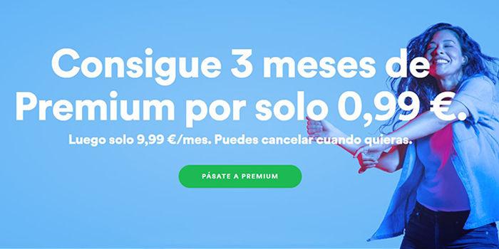 spotify premium 1 euro verano 2018