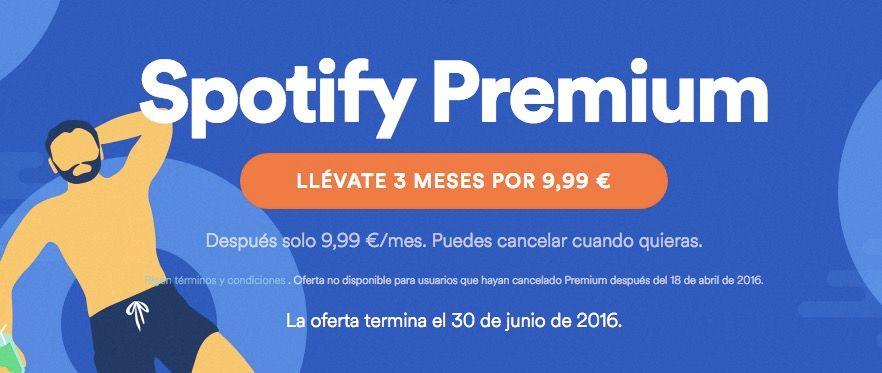 spotify premium oferta verano