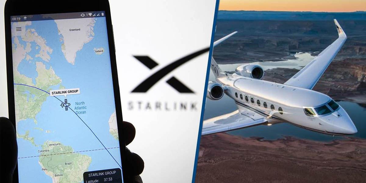starlink aviones conexión wifi banda ancha