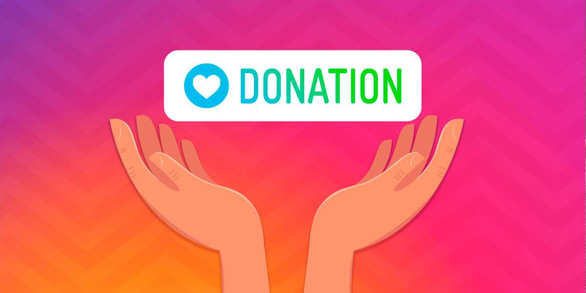 sticker donaciones instagram