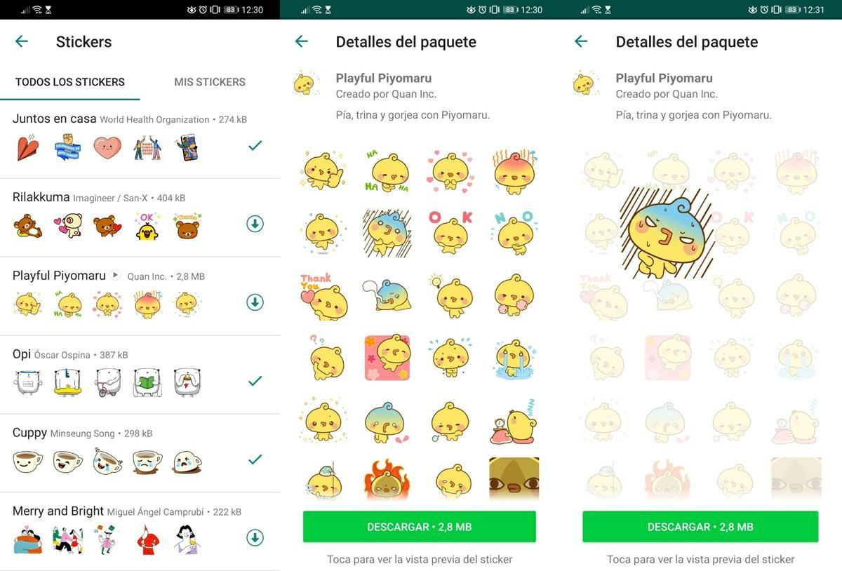 stickers animados de whatsapp ya estan disponibles
