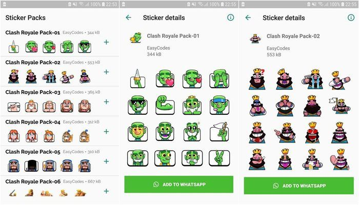 stickers clash royale