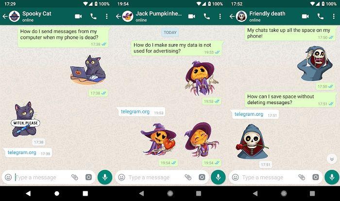 stickers for whatsapp halloween