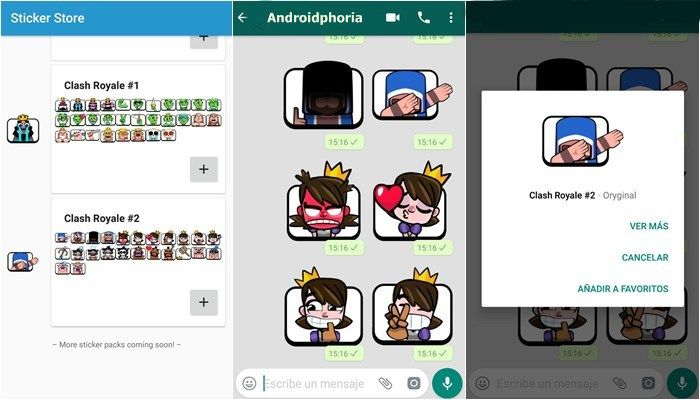 stickers whatsapp clash royale