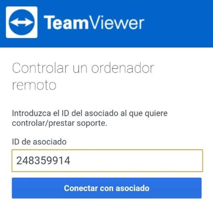 teamviewer conectar asociado