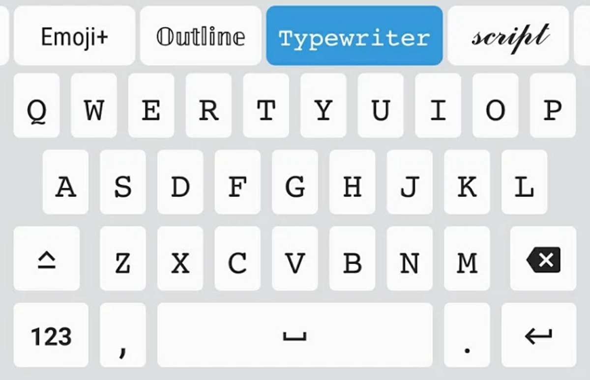 teclado fonts para android