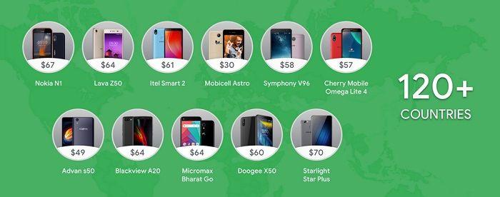 smartphones con Android Pie Go Edition