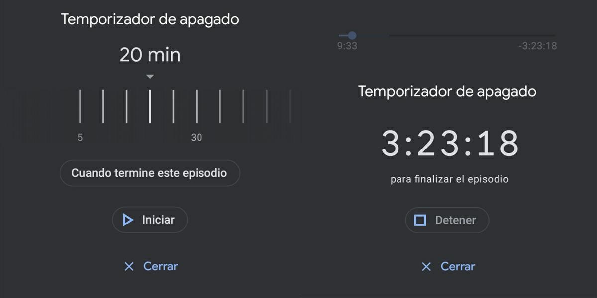 temporizador de apagado google podcast