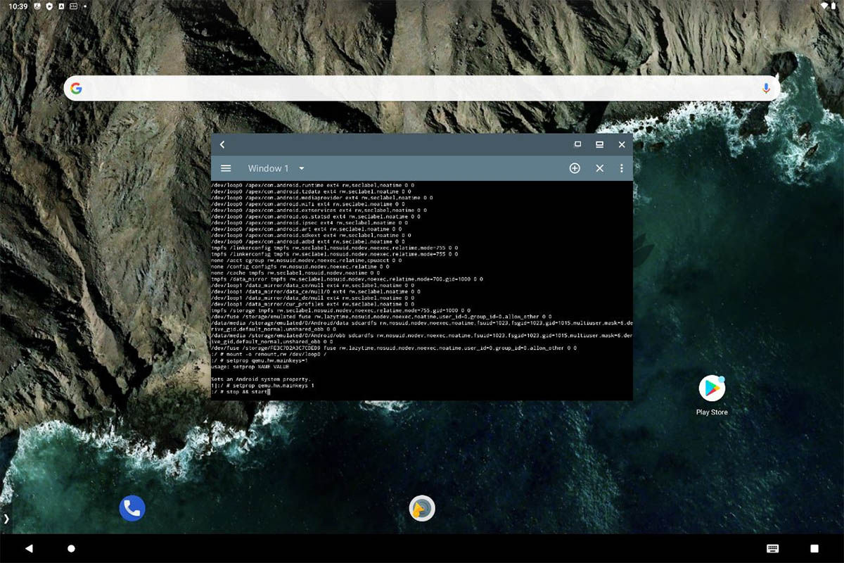 terminal Android 11 bliss os