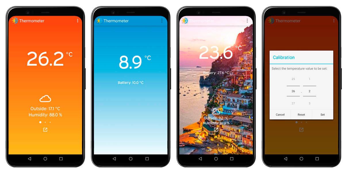 termómetro ambiental móvil android