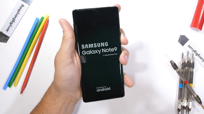 test resistencia galaxy note 9 botones