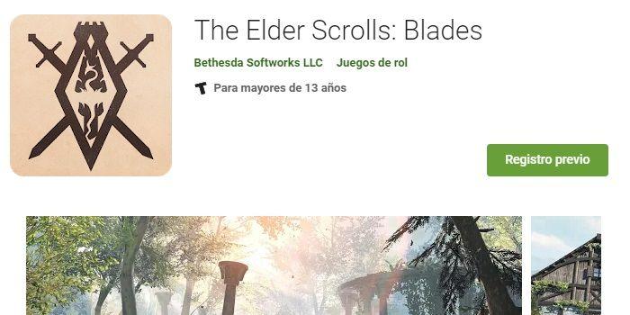 the elder scrrolls blades registro previo