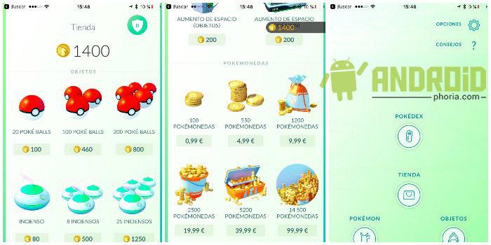 tienda pokemon go
