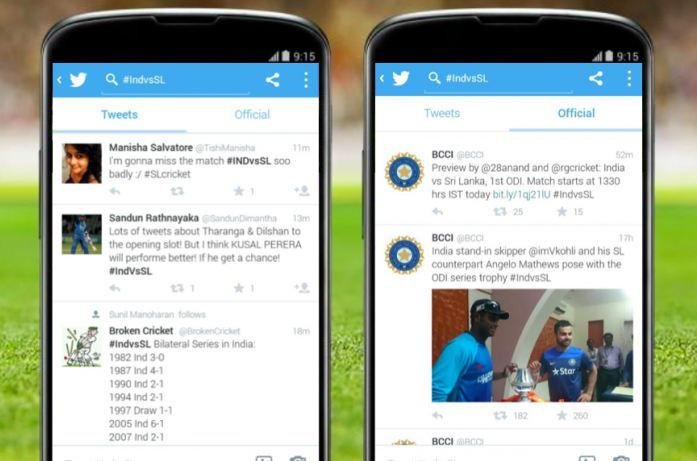 timeline de twitter para android