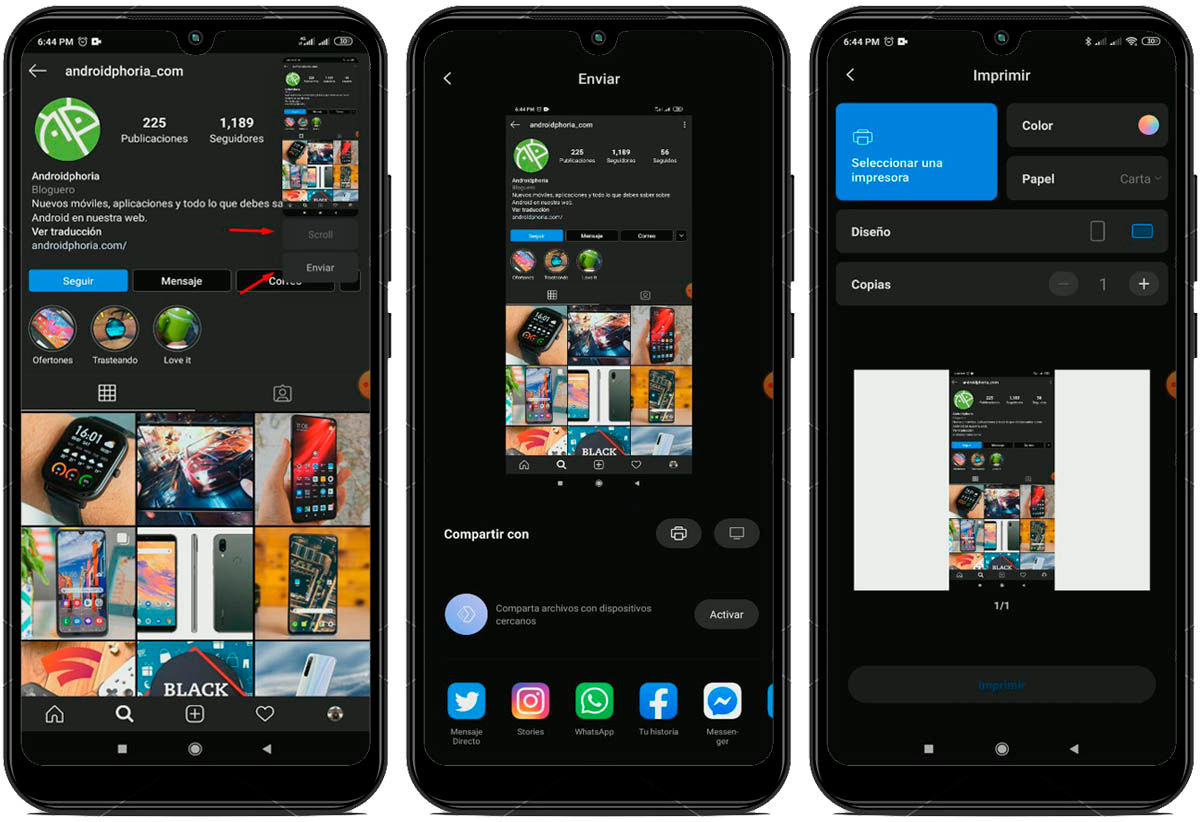 tomar y compartir capturas de pantalla en MIUI 11