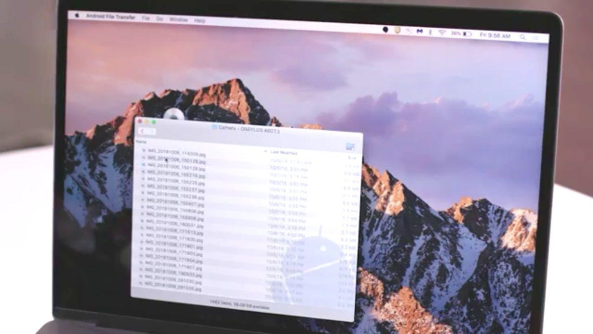 transferencia de archivos android a mac os x