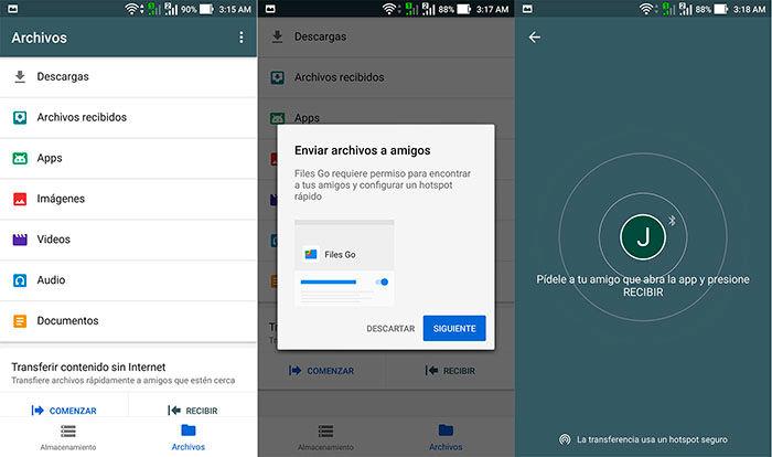Transferir Archivos Google's Files Go